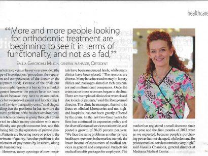 """Cel mai nou articol marca """"The Diplomat"""", depre sistemul privat de sănătate din România. În articol veți găsi și câteva declarații ale doamnei doctor Emilia Milicin. Enjoy!"""