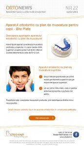 Newsletter Clinica dentara Ortodent Aprilie 2014