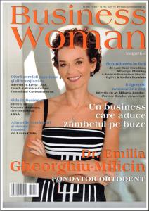Dr. Emilia Milicin pe coperta Bussines Woman, noiembrie 2014